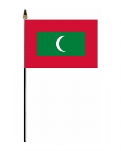 Maldives Country Hand Flag - Small.